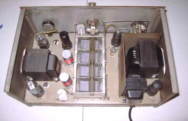 hewlett packard hp 200a audio oscillator hp 200a top chassis view