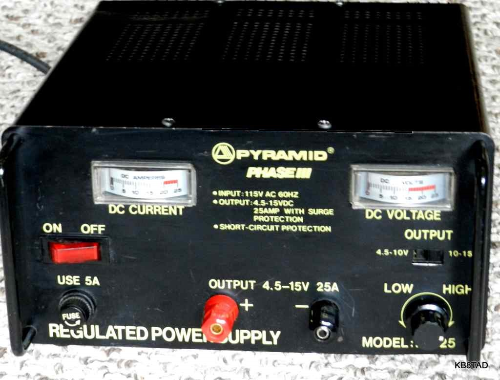 Pyramid Ps 25 Phase Iii Dc Power Supply High Current